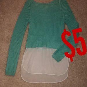 Sweaters - Teal sweater